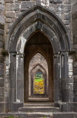 Arches of Old Church of Dunlewey, Ireland