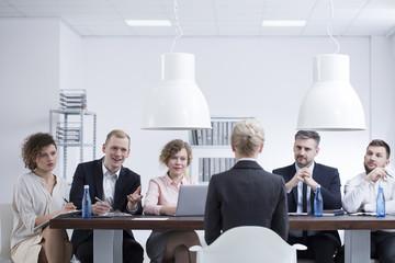 Businesswoman during job interview