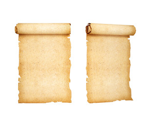 scrolling, old paper. 3d illustration
