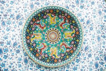 persian pattern on a handmade plat