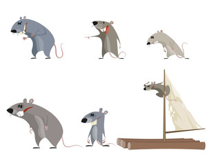 Set of six rodents