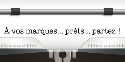 départ - starting bloc - sport - athlétisme - athlète -course - sprint - sprinter - sportif - machine à écrire
