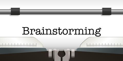 brainstorming - brainstorm - conception - idée - créatif - réfléchir - créativité - machine à écrire