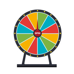 Spinning wheel isolated on white background. Wheel of fortune. Vector stock.