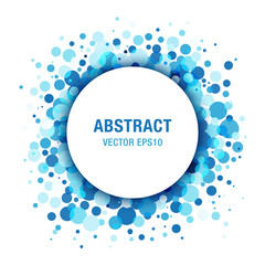 Blue Light Abstract Circle Frame Design Element. Vector illustration