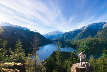 Diablo Lake Overlook Wall mural