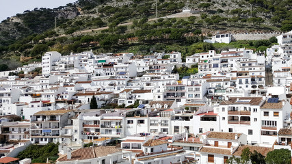 A view of a Spanish village Mijas in Andalusia