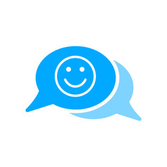 Bubble chat emoji face message smiley icon