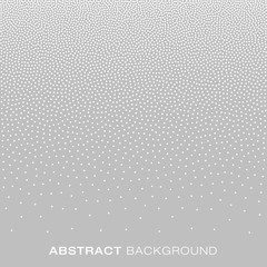 Abstract Gradient Halftone White Dots on Gray Background. Vector illustration