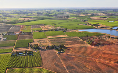 Australia, NSW, Agriculture, aerial view