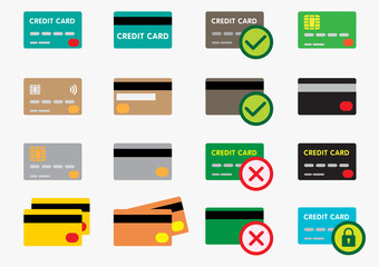 set of credit card icons