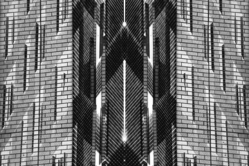 Urban Symmetry Background Black and White