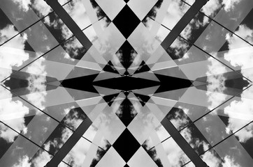 Urban Symmetry Background Black and White.