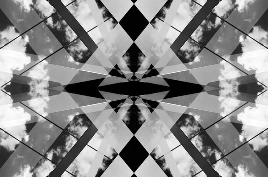 Urban Symmetry Background Black and White.
