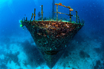 Acrylic Prints Shipwreck Flying Dutchman style ghost ship pirates of carribean sunk underwater