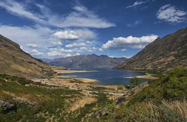 New Zealand, South Island, Crown Range, Lake Wakatipu