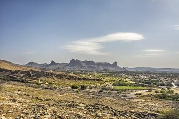 Landschaft in al Hamra in Oman