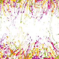 Paint  background with drops and splashes,  bright watercolor stains