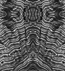 Op art abstract psychedelic Black and White Background