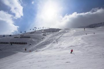 Beatifull slope in the Alps