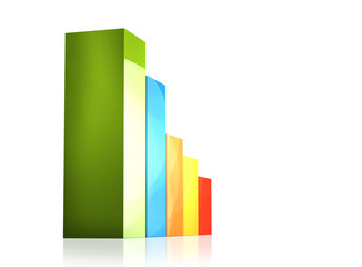 scale bar chart 3d rendering isolated