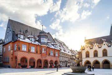 Fototapete - Goslar Marktplatz