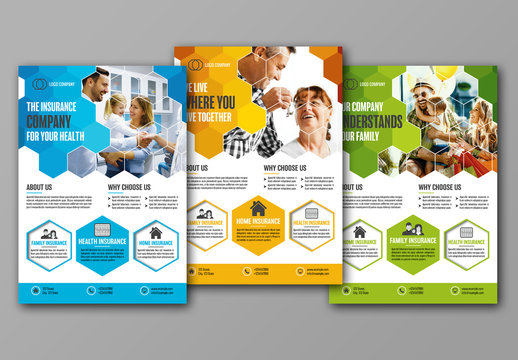 Flyer Layout with Hexagon Pattern 1