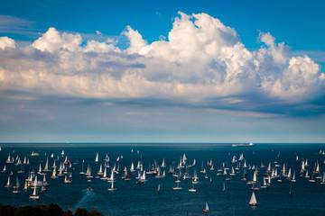 The Barcolana regatta in the gulf of Trieste