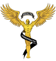 Chiropractic Health Gold Angel Man