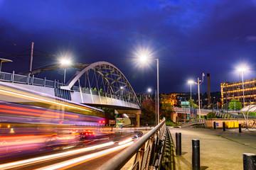 Rail bridge Sheffield UK