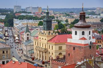 Obraz Architektura starego miasta w Lublinie, Polska - fototapety do salonu