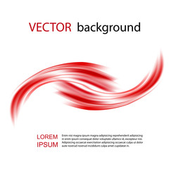 Abstract red waves background - Design Template. Bright red background with curved lines. Vector abstract red background wave design element.