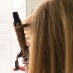 Hair with a hair curler