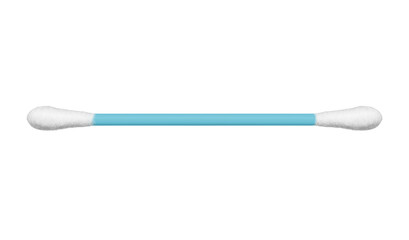 the ear cotton stick isolated on white, including clipping path
