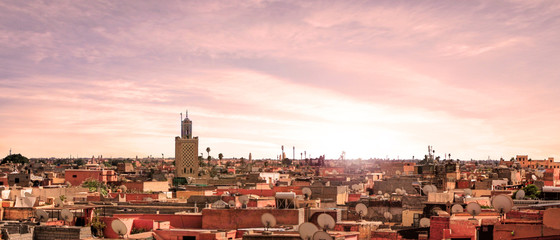 Photo sur Plexiglas Maroc Nice view in the city of Marrakesh in Morocco - Africa