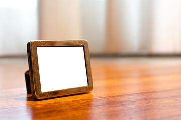 Miniature Silver Photo Frame Mock up