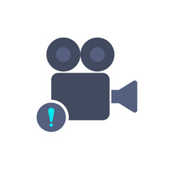 Alert cam camera film movie record icon