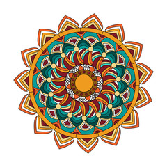 Vector illustration of a colored mandala, mandala colorato vettoriale