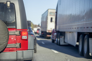 Traffic Jam with Trucks