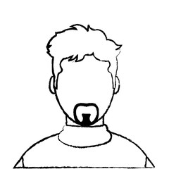 grunge avatar man with casual shirt and faceless