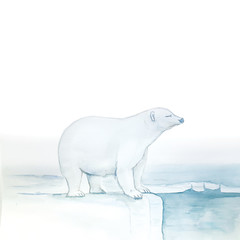 Watercolor Polar Bear