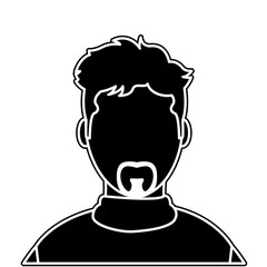 silhouette avatar man with casual shirt and faceless