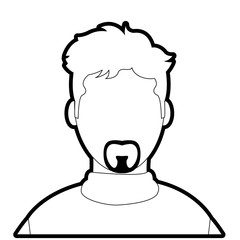 outline avatar man with casual shirt and faceless