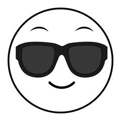 line cool face gesture emoji expression
