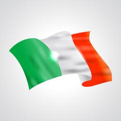 Ireland flag. Flag of Ireland. Bright Ireland flag background. Abstract Ireland ribbon vector.