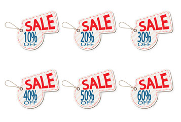 set of price discount sale tag label background vector illustration