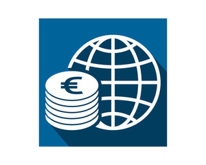 euro currency money price finance bank symbol image icon