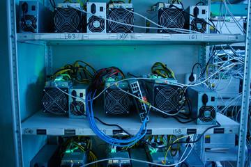 Bitcoin cryptocurrency mining farm