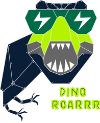Robotic Dino Graphic Vector_