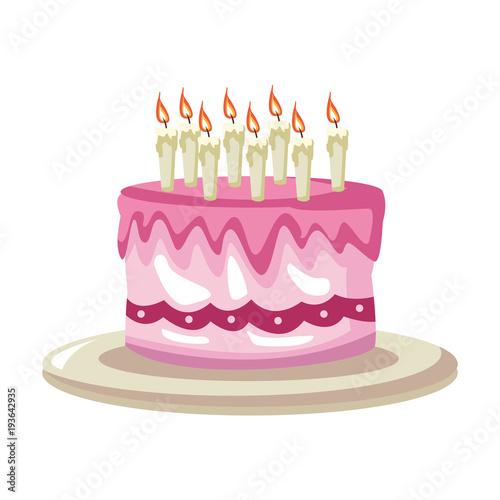 Birthday Cake Cartoon Vector Illustration Graphic Design